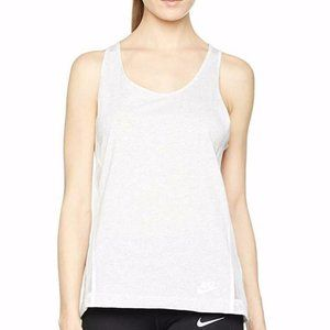 NIKE Racerback Bonded  Gray WhiteTank Top Medium